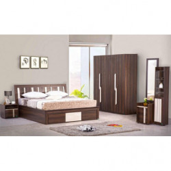 SONGESAND Bed frame with 4...